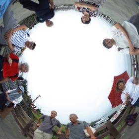 済州市:龍頭岩にて談話中 #ufo3d