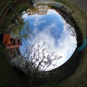 Im Garten, am 6. April 2017. #theta360 #theta360de