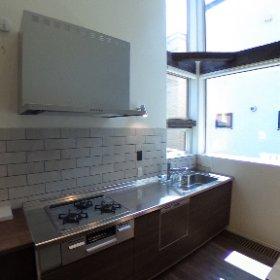 札幌市東区のフィールドヴィラ24にオープンしたSTV興発のモデルハウス『ウィリコ』…あえて壁面キッチンを採用し、LDK空間に拡がりをもたせました。 #theta360