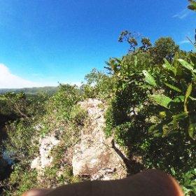 No alto do Mirante da Cachoeira em Delfinópolis.