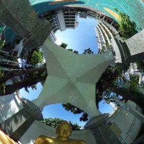 Buddha shrine in the school playground.