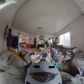 Who is behind me? Testing out my new helmet cam. #theta360
