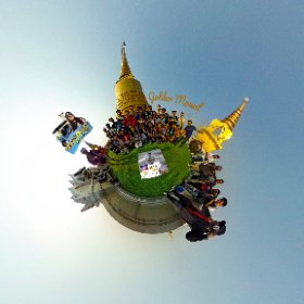 The Golden Mount ( Phou Khao Thong ) at Wat Saket rooftop chedi with 360 view SM hub http://goo.gl/JcebFk   BEST HASHTAGS #GoldenMount  #BkkTemple  #WatSaket  #SaenSaepCanal #BpacApproved   #Butterfly3d