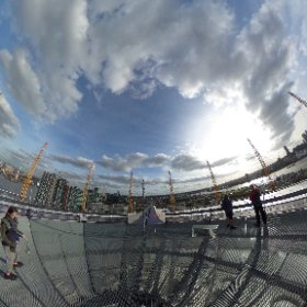 Up at The O2. Walking the Dome.  #theta360 #theta360uk