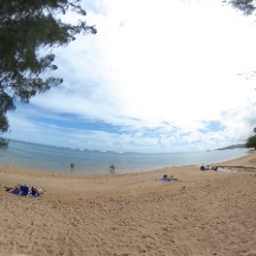 At a beach today, on the way to Duke's #theta360