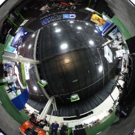Raymond pallet truck in Brammo booth at the Battery Show in Novi, Michigan. #theta360