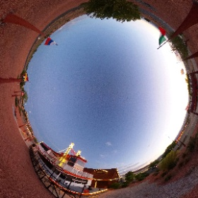 """File this under """"mostly depressing.""""  That is the #CanyonKing. It was the fake steamboat, paddle wheeler that provided sunset cruises and more for decades at #LakePowell. I have a scar under my lower lip because I was racing it in 1989. I lost. #theta360"""