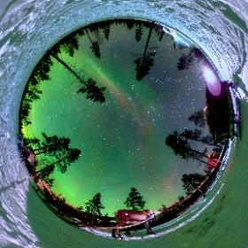 Northern Lights in Lapland #theta360