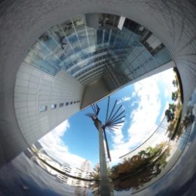 #RICOH #THETA #全天球写真 兵庫県立美術館 の、お隣のビル(^^;;