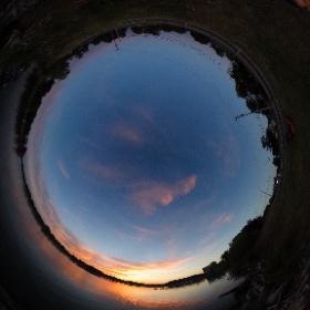 Sunset in Cicero. #theta360