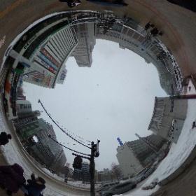 札幌駅周辺 時計台行き #まるちゃん写真集  #まるちゃん北海道旅行 #theta360