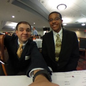 Sean Brown, Digital Media Academy student speaker, for the 2016 Superintendent's Breakfast. @WCPSS #theta360