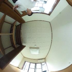 世田谷区等々力にあります「グリーンハイツ3」の室内パノラマ写真です。社会人・学生にオススメのバストイレ別アパート。物件詳細はhttp://www.futabafudousan.com/bukken/g/syousai/433dat.html #theta360