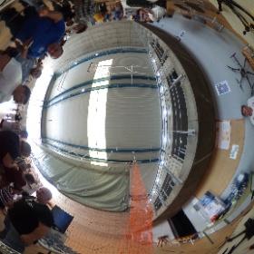 Stand de Drone27 en el Candelaria Drone Festival #theta360