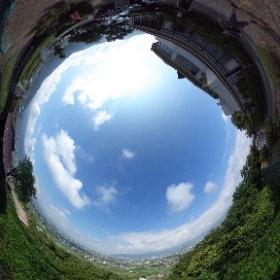 勝沼からの風景です。360度楽しんでください! #theta360