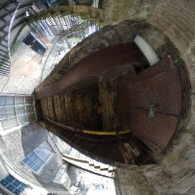 Nearer to North West Circus Place on the steps down from India Street #theta360