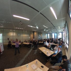 We're off! Nice full room ready for discussion of VR &  Games in health #gfheu  #theta360