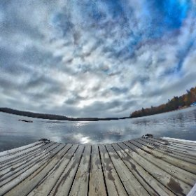 HDR of Oxtounge lake dock shot bracketed on ThetaS and processed in #AuroraHDR2017 #algonquin #outdoors #nature #wilderness #travel #landscape #lake #water #canada #artofautumn #theta360