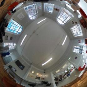 Exhibition space at York Explore, main libery #theta360