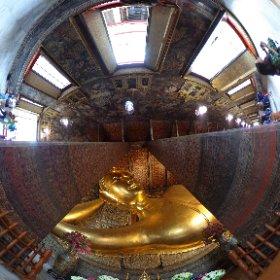 Wa Po, Bangkok, Thailand, Resting Budda #theta360