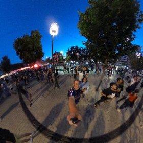 Place de République in Dijon was amazing after the win. Here comes the finals!! 🇫🇷🇫🇷🇫🇷