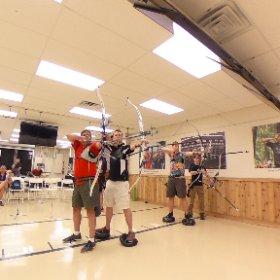 Balance. Practice on the balance balls at Lancaster Archery. #LAS  #theta360