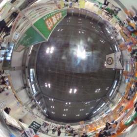 マイホームフェスタ会場を撮影しまTHETA!全天球パノラマで会場を見てみて。 #theta360
