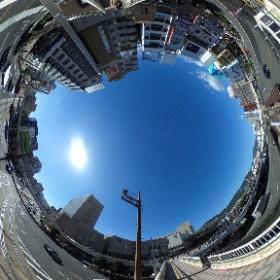 長崎駅前の雰囲気 #スタイリッシュ生活日記 #theta360
