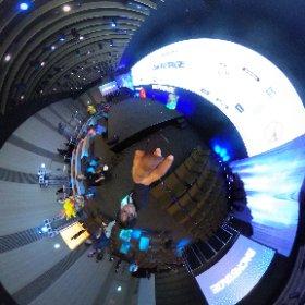 #BackStage18 のステージが意外すぎた!! まさかこのホールを横に使うとは..! 初年度、2年目、と毎年進化している..! #theta360
