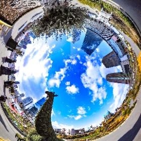 大阪梅田公園 植物のキリン