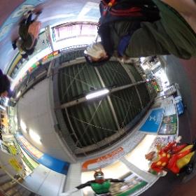 石巻駅には、石ノ森章太郎の仮面ライダーやサイボーグ009などのモニュメントがあります。 #石巻 #帰省 #theta360