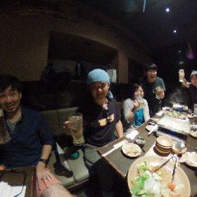 ジェットダイスケ先生 初個展開催記念飲み会 #ジェットダイスケ #theta360