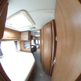 Coachman Laser 640 2011 bathroom and bedroom 360 photo. https://www.pirancaravansales.co.uk/303-coachman-laser-640-4