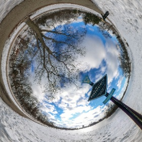 #Tinyworld of #SilverLakePark in #RochesterMN shot with Theta S and in the cold #wintertime #theta360