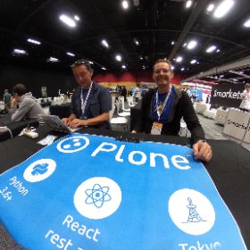 Hanging out at the #Plone booth in the #EuroPython expo hall. Come find Paul and I and ask us anything