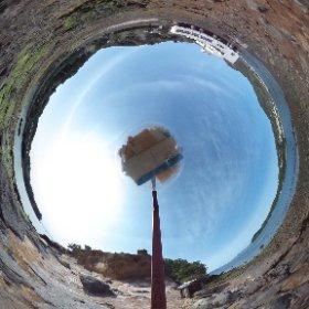 赤崎水曜日郵便局を全天球カメラで撮影。 #theta360