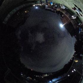 銀閣寺前町公園より東山大文字送り火を望む #firefly3d #theta360
