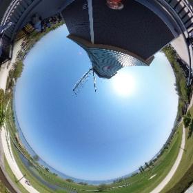 霞ヶ浦で風車とシータ。 #霞ヶ浦 #風車 #theta360