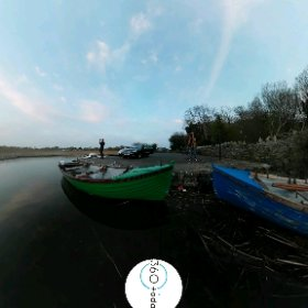 Catching the sun at the River Corrib for 360do x 360today | there is always sun setting down somewhere, caught on Menlough Pier #butterfly3d  #theta360 #theta360uk