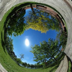 A beautiful day on campus near the Doon pond #sunshine #spring #thinkconestoga #360 #360photo