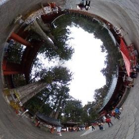 6. 二荒山神社にて。 #theta360