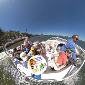 Spherical photo  60 min fast boat Eco Tour on Swan river Perth West Australia with Wild West Charters Elizabeth Quay https://linkfox.io/NQJNb  BEST HASHTAGS  #WildWestCharters #WWC60minTour #SwanRiver #JoyPerthWAJan2019  #TourismWA #VisitPerthWA #theta360