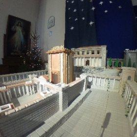 Parafia Bożego Ciała w Suwałkach. Fragment szopki bożonarodzeniowej. #theta360