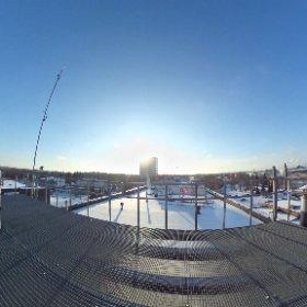 EMÜ Tehnikamaja katusel #theta360
