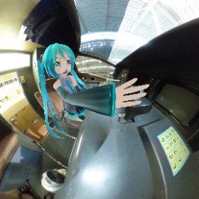 リニア・鉄道館の新幹線運転席 「チェンジ!シンカリオン!!」 #miku360  #theta360