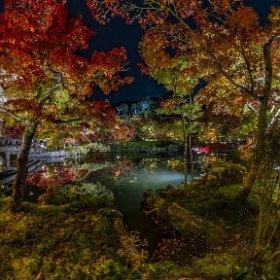京都、永観堂, Illuminated pond in 2019 #thetaz1 #SingleDNG #theta360