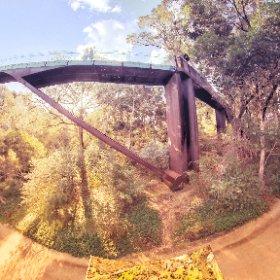 360 spherical glass arched bridge Lotterywest Federation Walkway is a 620 mtr tree top walkway on the East side of Mount Eliza Kings Park Botanical Gardens in Perth WA, SM hub https://goo.gl/jj6ZgV #theta360
