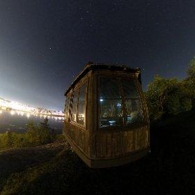 Chicoutimi Skyline #canada #quebec #nightphoto #stars #Chicoutimi #theta360