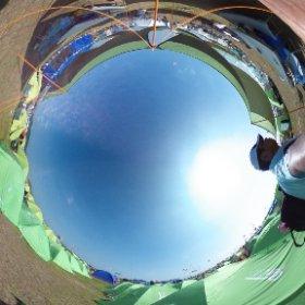 香川のスカウトたちのキャンプサイトは、もぬけのから。 みんな、ピースプログラムで広島へ行ってます。