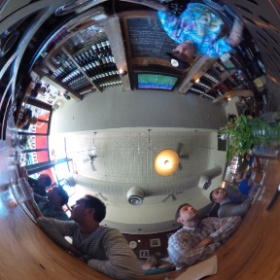 Watching the World Cup match at the Meatball shop in NY. @0484gabe @jeffstaple @rcrboy @j2martinez @tincollims  #theta360